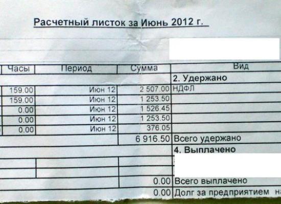 Расшифровка расчетного листка по зарплате